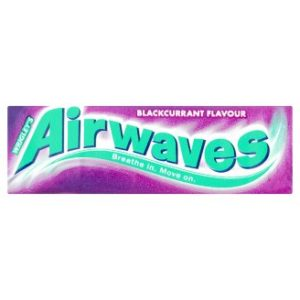 Wrigleys Airwaves Blackcurrant Sugar free Chewing Gum