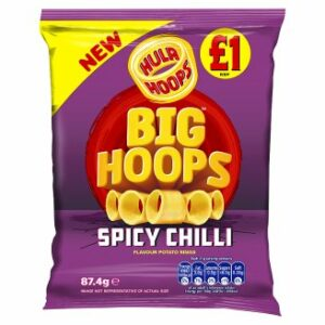 Hula Hoops Big Hoops Chilli Flavour Potato Rings