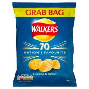 Walkers Cheese & Onion Flavour Crisps