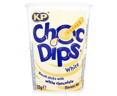 KP Choc Dips White