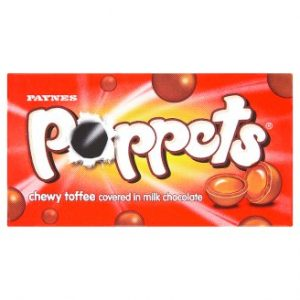 Paynes Poppets Chewy Toffee Covered in Milk