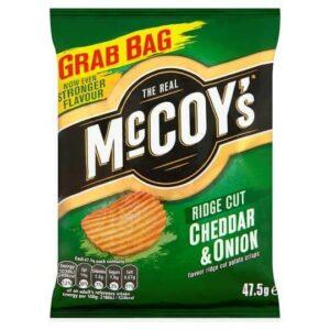 The Real McCoys Ridge Cut Cheddar & Onion
