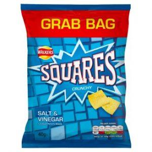 Walkers Squares Crunchy Salt & Vinegar