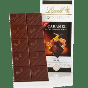 Lindt Excellence Dark Caramel and Sea Salt