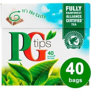 PG Tips 40 Pyramid Tea Bags 116g