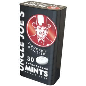 Uncle Joes Mint Balls Liquorice & Aniseed Tins