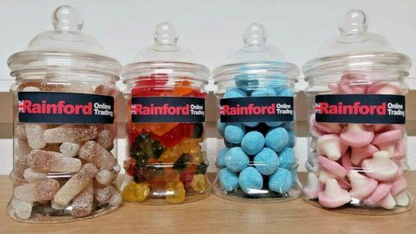 My Sweet Shop - 4 x Jars (Blue Bon Bon, Jelly Bears, Foam Mushroom & Fizzy Cola)