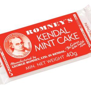 Romneys Kendal Mint Cake 40g MINI Brown Bars